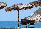 Strawy Ubrellas, Puerto Escondido, México