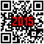 New Year counter, QR code vector.