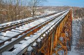 pic of trestle bridge  - Built in 1905 Indiana - JPG