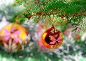 Christmas,new Year Decoration-balls, Green Tinsel