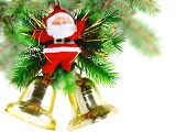 stock photo of christmas bells  - Christmas and New Year decoration - JPG
