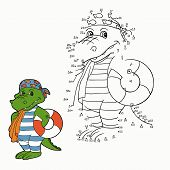 picture of crocodile  - Game for children - JPG