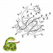 stock photo of green snake  - Game for children - JPG