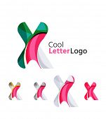 picture of letter x  - Set of abstract X letter company logos - JPG