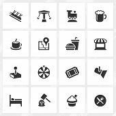 picture of meals wheels  - Theme park vector icons - JPG