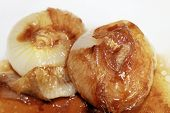 foto of vinegar  - sweet and sour onions with balsamic vinegar - JPG