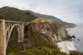 pic of bixby  - California coastline and the Bixby Bridge in the panoramic highway 1 - JPG