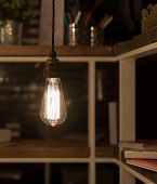 picture of cord  - Low Watt Tungsten Bulbs Hanging from Cord - JPG
