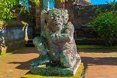 image of hindu  - Statue in Pura Taman Ayun  - JPG