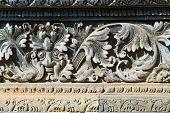 pic of hindu  - Fresco Hindu temple complex in Bali indonesia - JPG