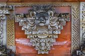 foto of hindu  - Fresco Hindu temple complex in Bali indonesia - JPG