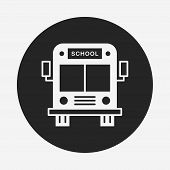 picture of driving school  - School Bus Icon - JPG