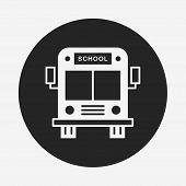 stock photo of driving school  - School Bus Icon - JPG