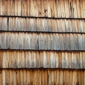 stock photo of shingles  - The old wooden shingle surface - JPG