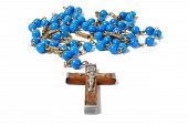 picture of rosary  - Macro of rosary isolated on white background - JPG