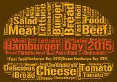 foto of hamburger  - Hamburger day 2015 theme  - JPG