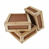 stock photo of wooden crate  - The image three - JPG