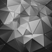 3d vector technology background poster