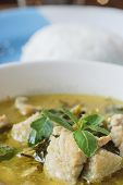 picture of thai cuisine  - green curry with pork thai cuisine delicious food - JPG