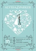 picture of wedding  - Cute Wedding invitation Design tamplate - JPG