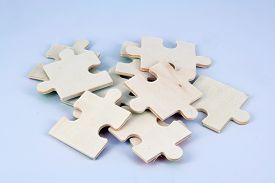 picture of tangram  - Wooden puzzle pieces - JPG
