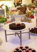 picture of banquette  - photograph of dessert buffet dinner at restaurant or catering - JPG