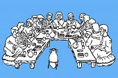 The Last Supper Black And White Outline Drawing