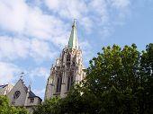 Church Spire In Paris