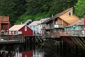 picture of brothel  - Image of Famous Creek Street in Ketchikan Alaska - JPG