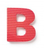 Letter B isolated on the white background