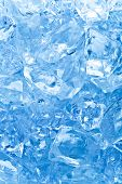 image of ice cube  - background with ice cubes in blue light - JPG