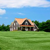 foto of dream home  - Luxury home with landscaped front yard in Summer - JPG