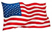 picture of usa flag  - flapping flag USA with wave - JPG