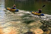 Two Women Kayakers