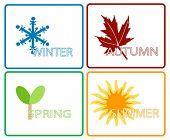 Four Seasons; Separate Items; Vector