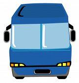 Blue Bus - Vector