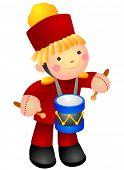 Drummer Doll - Vector