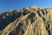 foto of scoria  - erosion features in badlands national park south dakota in winter - JPG