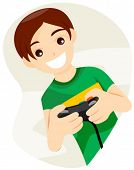 stock photo of video game controller  - Playing Video Game  - JPG