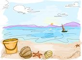Beach Doodle - Vector