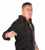 Enraged Latino Man