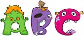 Illustration of Letters of the Alphabet Represented by Monsters (8)