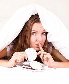 Woman Eating Cookies