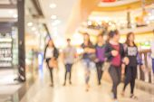Blur Image, People In Shopping Mall. poster