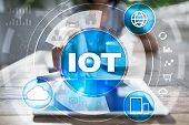 Iot. Internet Of Thing Concept. Multichannel Online Communication Network Digital 4.0 Technology Int poster