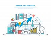 Personal Data Protection. Preservation And Confidentiality Of Information, Database Secure, Measures poster