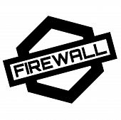 Firewall Stamp. Typographic Label, Stamp Or Logo poster