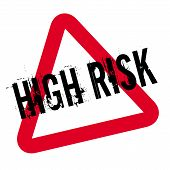 High Risk Typographic Stamp. Typographic Sign, Badge Or Logo. poster