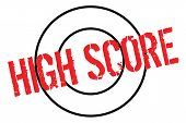 High Score Typographic Stamp. Typographic Sign, Badge Or Logo. poster