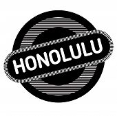Honolulu Typographic Stamp. Typographic Sign, Badge Or Logo poster